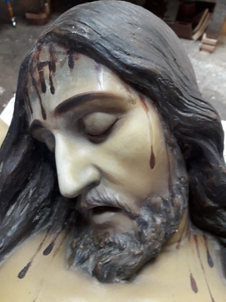 Restauración de la imagen del Cristo
